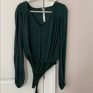 Green bodysuit free people